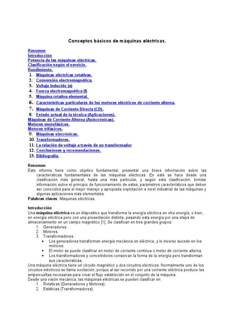 Conceptos - Maquinas Electricas