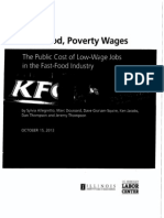 Fast Food.poverty Wages