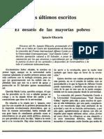 Ignacio Ellacuria3 El Desafio de Las Mayorias Pobres