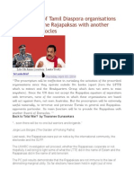 The Banning of Tamil Diaspora Organisations Will Provide the Rajapaksas With Another Sword of Damocles