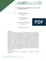 El diseño de Entornos Personales de Aprendizaje y la formación de profesores en TIC
