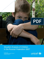 Situation Analysis for Russian Children by UNICEF 2007