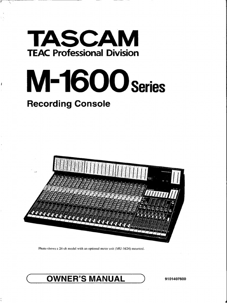 Tascam M 1600 Manual