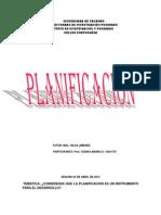 ¿Consideras que la planificacion es un instrumento para el desarollo?