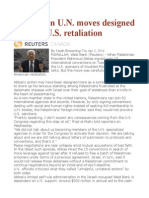 Palestinian U.N. Moves Designed to Avoid U.S. Retaliation