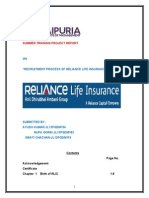 Recruitment Process of Reliance Life Insurance