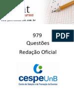 979 - Questoes CESPE - Redação Oficial