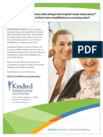 Kindred Assisted Living – Avery Crossings Respite and Rehabilitation Program flyer