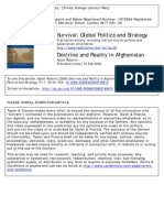 Roberts - Doctrine and Reality in Afghanistan