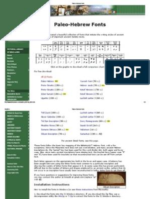 Paleo Hebrew Fonts Pdf Hebrew Language Writing