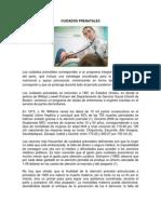 Cuidados Prenatales, Postnatales, Lactancia Materna