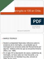 Brote de Meningitis W-135 en Chile