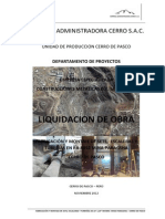 1.- Liquidación de obra RB-8892