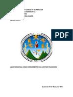 Trabajo de La Herramienta Del Auditor Financiero