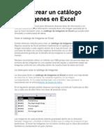 Cómo crear un catálogo de imágenes en Excel