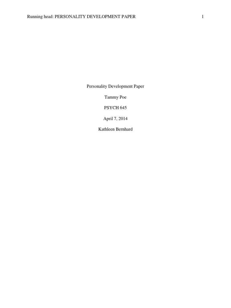 personality development paper week temperament genetics