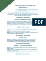 CONSTITUCIÓN POLITICA DEL ESTADO DE 1831