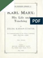 Karl Marx His Life and Teaching