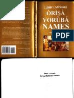 1000 Orisa Yoruba Names