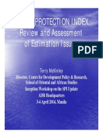 2-Social Protection Index Technical Workshop - Review and Assessment of Estimation Issues (Terry McKinley)