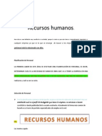 Recursos Humanos Luz