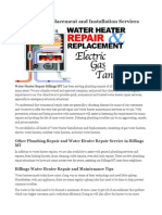 Water Heater Repair Billings MT