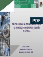 Taller Calculo Manual de Las Tarifas Para El Suministro Venta de Energia Electrica (1)
