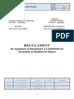 Regulament de Organizare Si Functionare a Comitetului de Securitate Si Sanatate in Munca CSSM 2013