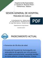 Sesión clínica. Trauma de cuello