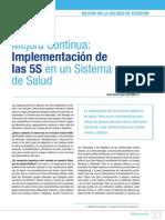Implementación de las 5S en un Sistema de Salud