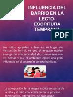 Influencia Del Barrio en La Lecto-escritura Temprana
