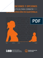 Intervenciones y Opciones de Políticas para Combatir la Desnutrición en Guatemala