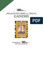 Mahatma Gandhi Reflexiones Sobre La Verdad