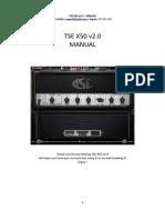 TSE X50 v2.0 Manual