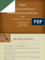 mass communications career project english