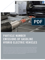 Particle Number Emissions of Gasoline Hybrid Electric Vehicles