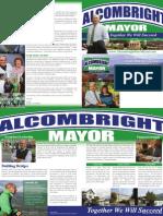 Alcombright for Mayor, North Adams, MA mailer