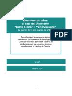 """Documentos sobre el caso del auditorio """"Justo Sierra"""" / """"Che Guevara"""""""