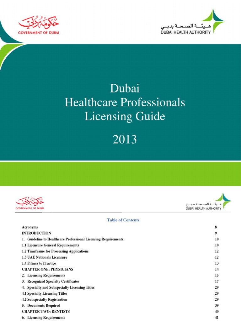 Dubai healthcare professional licensing guide final dental dubai healthcare professional licensing guide final dental degree specialty medicine 1betcityfo Choice Image