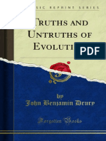 Truths and Untruths of Evolution