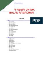 Resipi Bulan Ramadhan