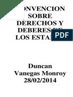 CONVENCIÓN SOBRE DERECHOS Y DEBERES DE LOS ESTADOS (1)