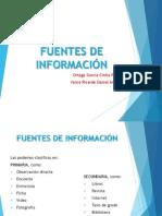 FUENTES DE INFORMACIÓN. presentacion