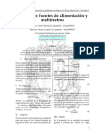 Informe de Laboratorio. Manejo de Fuentes de Alimentación y de Medición