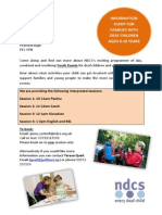 PDDCS NDCS Events Outreach Poster