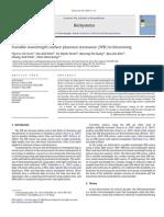 Variable Wavelength Surface Plasmon Resonance (SPR) in Biosensing