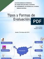 Formas y Tipos de Evaluacion.