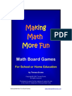 Making Math More Fun Math Board Games