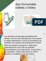 Métodos Hormonales Inyectables y Orales