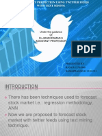 Stock Market Prediction Using Twitter Feeds